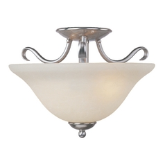 Maxim Lighting Basix Ee Satin Nickel Semi-Flushmount Light
