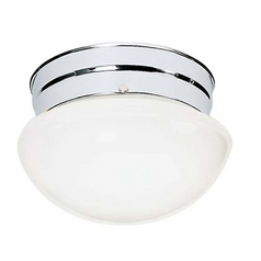Mushroom Flushmount Ceiling Light - 9-1/2 Inches Wide