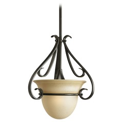 Progress Pendant Light with Beige / Cream Glass