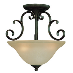 Craftmade Barrett Place Mocha Bronze Semi-Flushmount Light