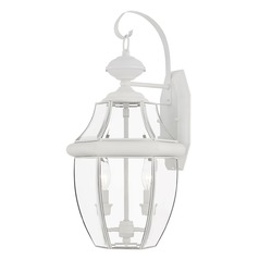 Livex Lighting Monterey White Outdoor Wall Light