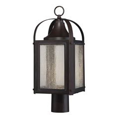 Savoy House Lighting Formby English Bronze with Gold LED Post Light