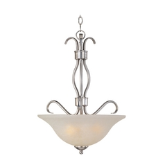 Maxim Lighting Basix Ee Satin Nickel Pendant Light with Bell Shade