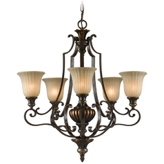 Chandelier in Firenze Gold/british Bronze Finish