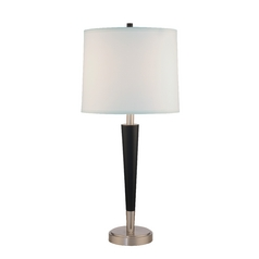 Design Classics Modern Table Lamp in Satin Nickel/ebony Finish DCL M6718-2-09/502