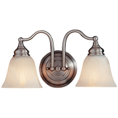 Feiss Lighting Two-Light Bathroom Light VS6702-PW