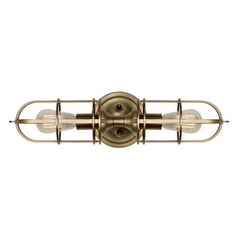 Sconce Wall Light in Dark Antique Brass Finish