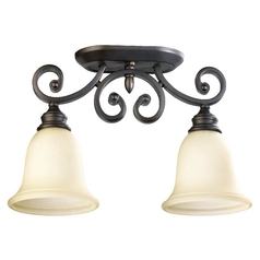 Quorum Lighting Bryant Oiled Bronze Semi-Flushmount Light