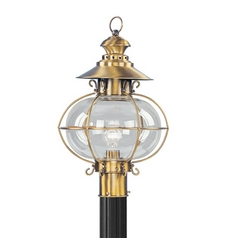 Livex Lighting Harbor Flemish Brass Post Light