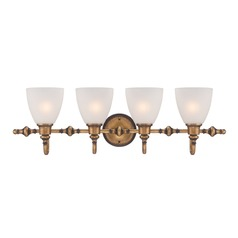 Designers Fountain Isla Aged Brass Bathroom Light