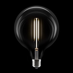 Vintage Style Carbon Filament LED A19 Light Bulb Medium Base 120V 10-Watt Equivalent