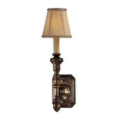 Sconce Wall Light in Flemish Brass Finish - Shade Not Included