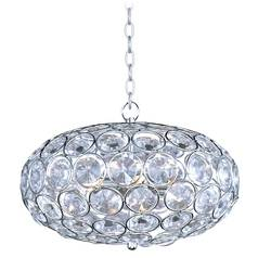 Modern Pendant Light in Polished Chrome Finish