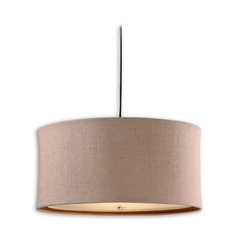 Modern Drum Pendant Lights in Chocolate Bronze Finish
