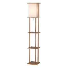 Adesso Home Lighting Barbery Oak Floor Lamp