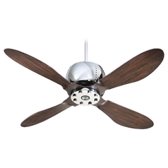 Quorum Lighting Elica Chrome Ceiling Fan with Light