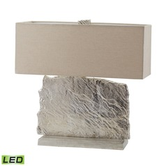 Dimond Lighting Nickel LED Table Lamp with Rectangle Shade