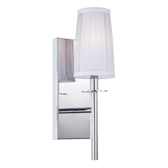 Sconce Wall Light with Silver Shade in Chrome Finish
