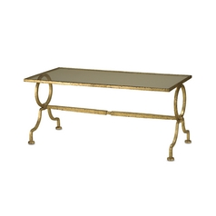 Currey and Company Lighting Coffee & End Table in Gold Leaf Finish 4056