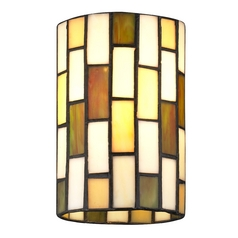 Design Classics Lighting Cylindrical Tiffany Glass Shade - 1-5/8-inch fitter GL1038