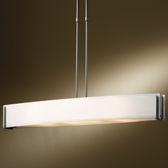 Hubbardton Forge Lighting Intersections Natural Iron Island Light with Rectangle Shade