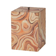 Dimond Home Desert Agate Trash Can
