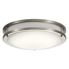 Transitional LED Flushmount Light Brushed Nickel Avon by Kichler Lighting