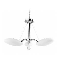 Lite Source Lighting Rey Chrome Pendant Light with Oval Shade
