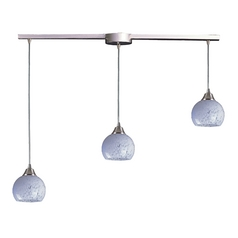 Multi-Light Pendant Light with White Glass and 3-Lights