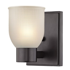 Prismatic Frosted Glass Sconce Bronze