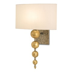 Currey and Company Lighting Stillman Antique Gold Leaf / Pyrite Bronze Sconce