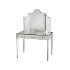 Sofa Table in Granello Silver Leaf / Light Finish