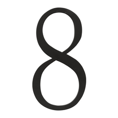 Atlas Homewares House Number in Black Finish TRN8-BL