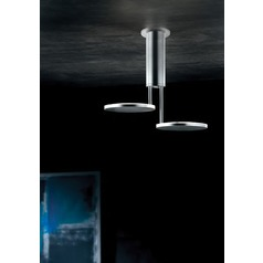Invader Polished Aluminum LED Semi-Flushmount Light