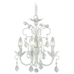 Mini Chandelier Satin White Mini-Chandelier by Vaxcel Lighting