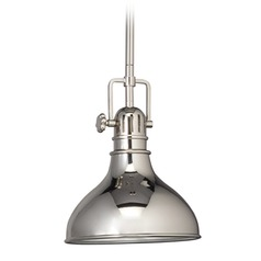Kichler Nautical Mini-Pendant Light in Polished Nickel - 8 Inches Wide