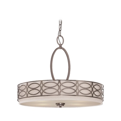 Modern Drum Pendant Lights in Hazel Bronze Finish