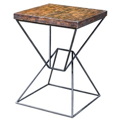 Uttermost Weathered Black Accent Table