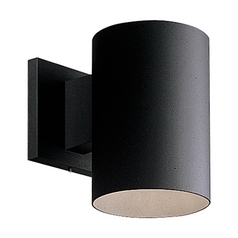 Progress Cylinder Outdoor Down light in Black Finish