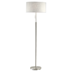 Adesso Home Lighting Hayworth Satin Steel Floor Lamp