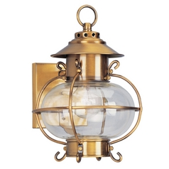Livex Lighting Harbor Flemish Brass Outdoor Wall Light