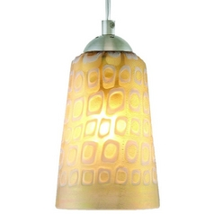 Oggetti Lighting Carnivale Dark Pewter Mini-Pendant Light with Cylindrical Shade