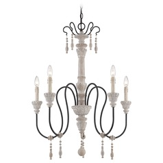 Savoy House White Washed Driftwood Chandelier
