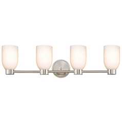 Aon Fuse Satin Nickel Bathroom Light