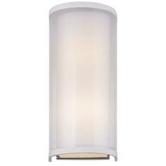 Modern Sconce Light with Silver Organza Shade