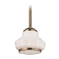 Hudson Valley Lighting Odessa Aged Brass Pendant Light