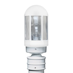 Post Light White Costaluz by Besa Lighting