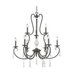 Elk Lighting Porto Cristo Palermo Rust / Birch Chandelier