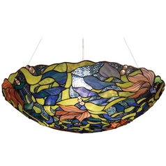 Pendant Light with Multi-Color Glass in Polished Chrome Finish