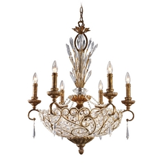 Senecal 12 Light Chandelier In Spanish Bronze